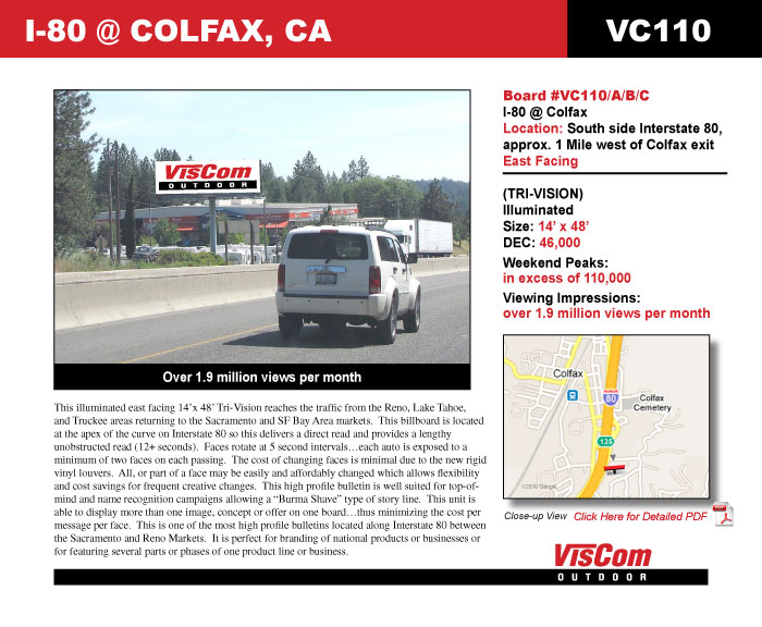 Billboard Tri Vision I80 Colfax VC110